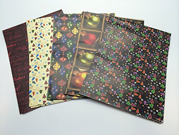 10 Sheets of Luxury Christmas Decoration Design Gift Wrap and Tags