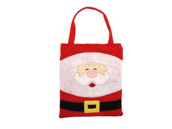 3 x Felt Christmas Santa Treat / Gift Bags