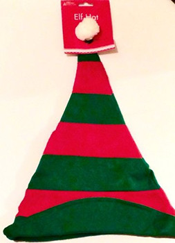 Adults Christmas Elf Fancy Dress Hat
