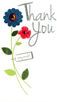 A Special Thank You Luxury Champagne Greeting Card Hand-Finished Cards