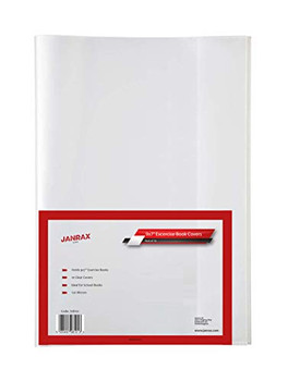 """Pack of 10 9x7"""" Clear Exercise Book Covers by Janrax"""