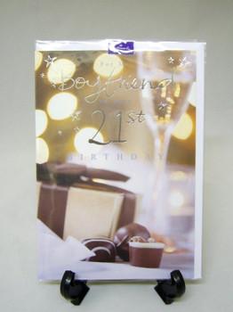 Hallmark Boyfriend 21st Birthday Card.