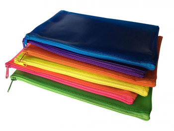 "72 x Assorted Frosted Colour 8x5"" Pencil Cases"