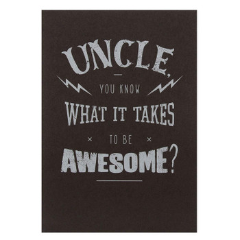 Hallmark Birthday Card For Uncle 'Awesome' Medium