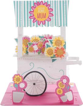 Hallmark Pop Up Mum Mother's Day Card 'Flower Cart' Medium