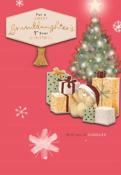 Forever Friends Granddaughter's 1st Christmas Christmas Card