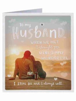 Husband Lake Nights Valentine's Day Card