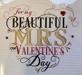 My Beautiful Mrs Valentine's Day Card Wife