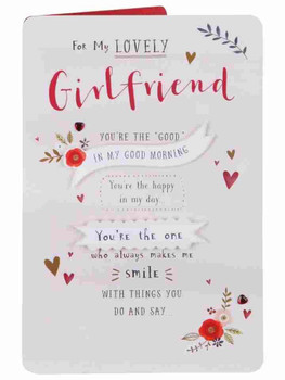 Lovely Girlfriend The Happy In My Day Valentine's Day Card