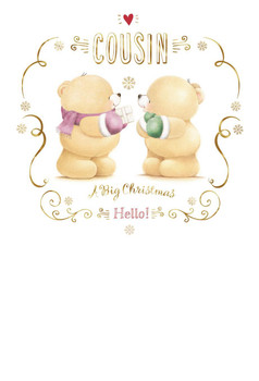 Forever Friends Cousin Christmas Card
