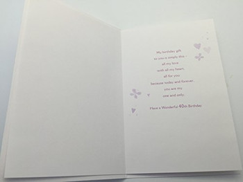 Happy 40th Birthday Wife, Birthday Greetings Card