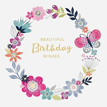Beautiful Wishes Birthday Greeting Card Enjoy your day