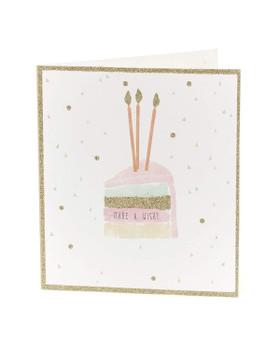 Pretty Glitter Birthday Card for Her Make a Wish