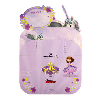 3D Sculpture Birthday Card for Daughter from Hallmark Disney Sofia The First Paper Wow Design