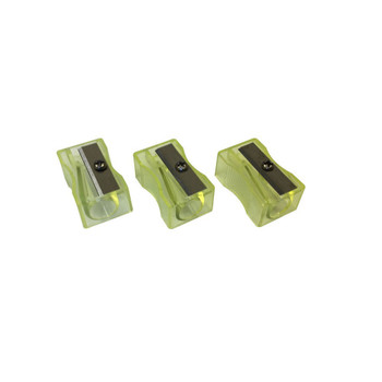 Pack of 100 Yellow Translucent Pencil Sharpeners