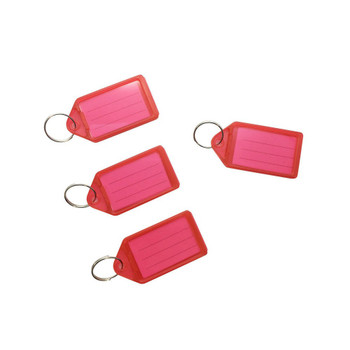 Pack of 100 Small Red Identity Tag Key Rings