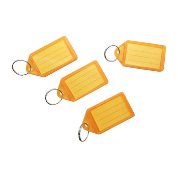 Pack of 100 Small Orange Identity Tag Key Rings