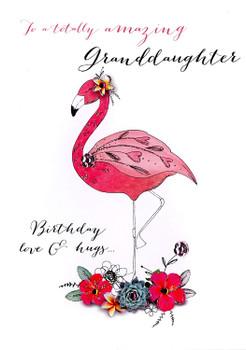 Amazing Granddaughter Birthday Embellished Greeting Card Joie De Vivre Cards