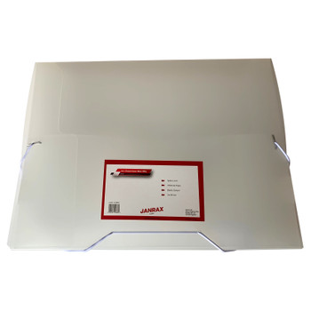Pack of 10 A4 Clear Box Files with Elastic Closure