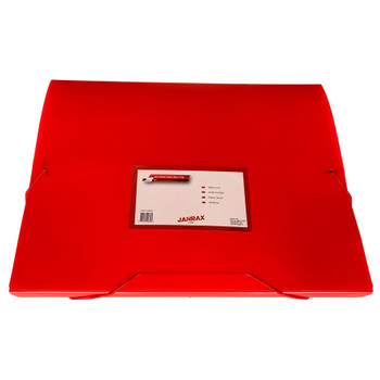 Pack of 10 A4 Clearview Red Box File with Elastic Closure