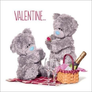 3D Holographic Picnic Me to You Bear Valentines Day Card