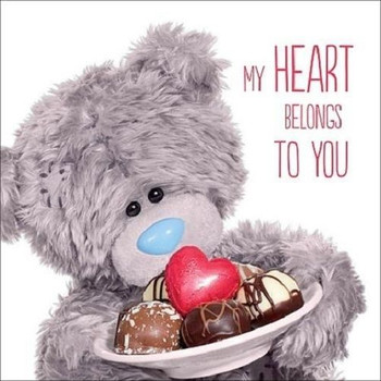 3D Holographic Chocolates Me to You Bear Valentines Day Card