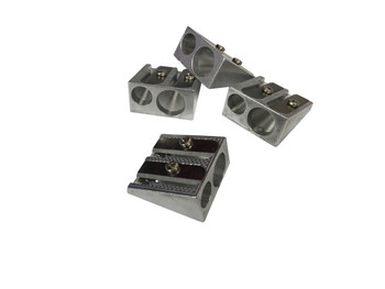 Pack of 12 Janrax Two Hole Metal Pencil Sharpeners