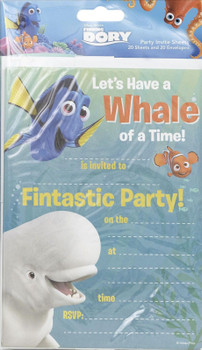 FINDING DORY PACK OF 20 PARTY INVITATIONS NEMO DISNEY PIXAR CHILD CHARACTER NEW GIFT