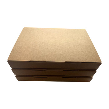 Pack of 3 A4 Kraft Box Files 3.5cm Depth