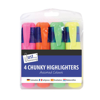 Just Stationery 4 Chunky Highlighter