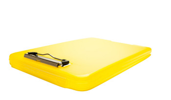 A4 Yellow Clipboard Box File - Storage Filing Case