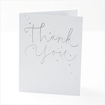 Pack of 30 Quality Foil Finished Thank You Cards by UK Greetings