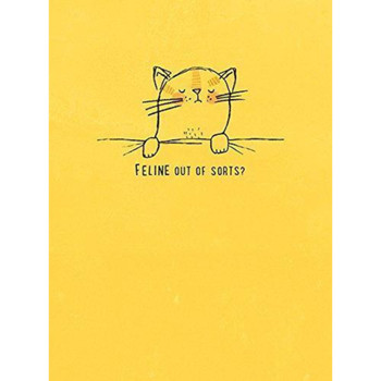 Feline Out of Sorts Get Well Soon Humour 'ASAP' Morden New Card