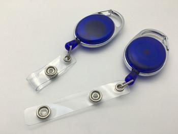 Blue Key Reel ID Card Badge Holder