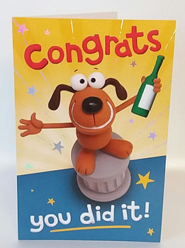 Congratulations Free Drinks  for everyone Humour You Did It, Uk Greeting Card