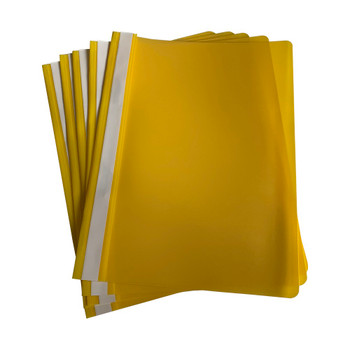 Pack of 12 Yellow A4 Project Folders by Janrax