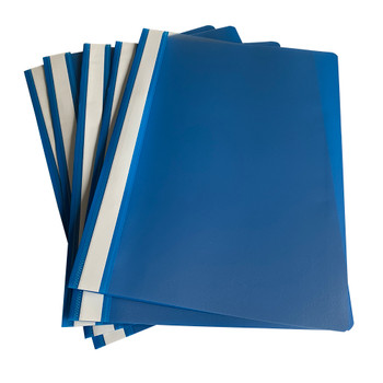 Pack of 12 Blue A4 Project Folders by Janrax