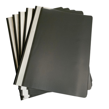 Pack of 12 Black A4 Project Folders by Janrax