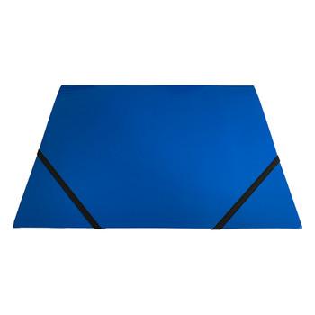 Janrax A4 Blue Laminated Card 3 Flap Folder with Elastic Closure