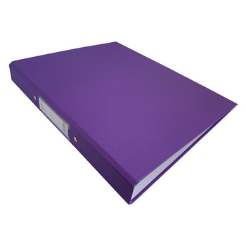 A4 Purple Paper Over Board Ring Binder by Janrax
