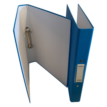 A4 Light Blue Paper Over Board Ring Binder by Janrax