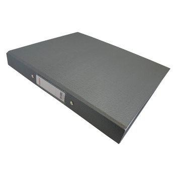 A4 Grey Paper Over Board Ring Binder by Janrax