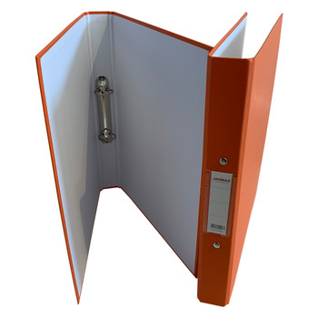 A4 Orange Paper Over Board Ring Binder by Janrax