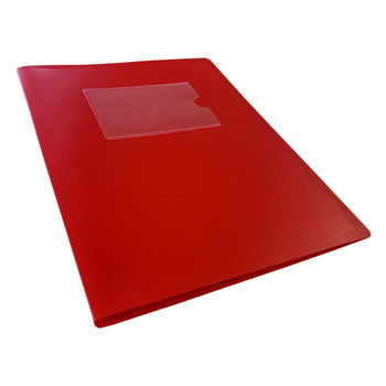 A5 Red Flexible Cover 20 Pocket Display Book