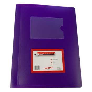 A5 Purple Flexible Cover 20 Pocket Display Book