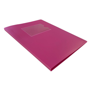A5 Pink Flexible Cover 20 Pocket Display Book