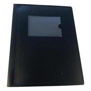 A5 Black Flexible Cover 40 Pocket Display Book