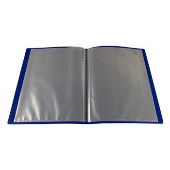 A5 Blue Flexible Cover 40 Pocket Display Book