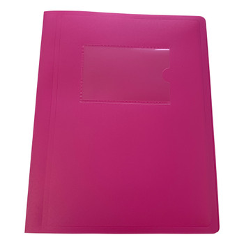 A5 Pink Flexible Cover 40 Pocket Display Book