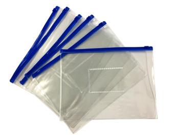 Pack of 120 A5 Blue Zip Zippy Bags